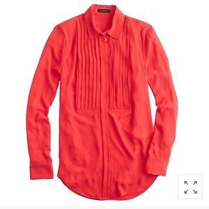 J.Crew crepe tuxedo blouse